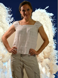 megan in angel wings