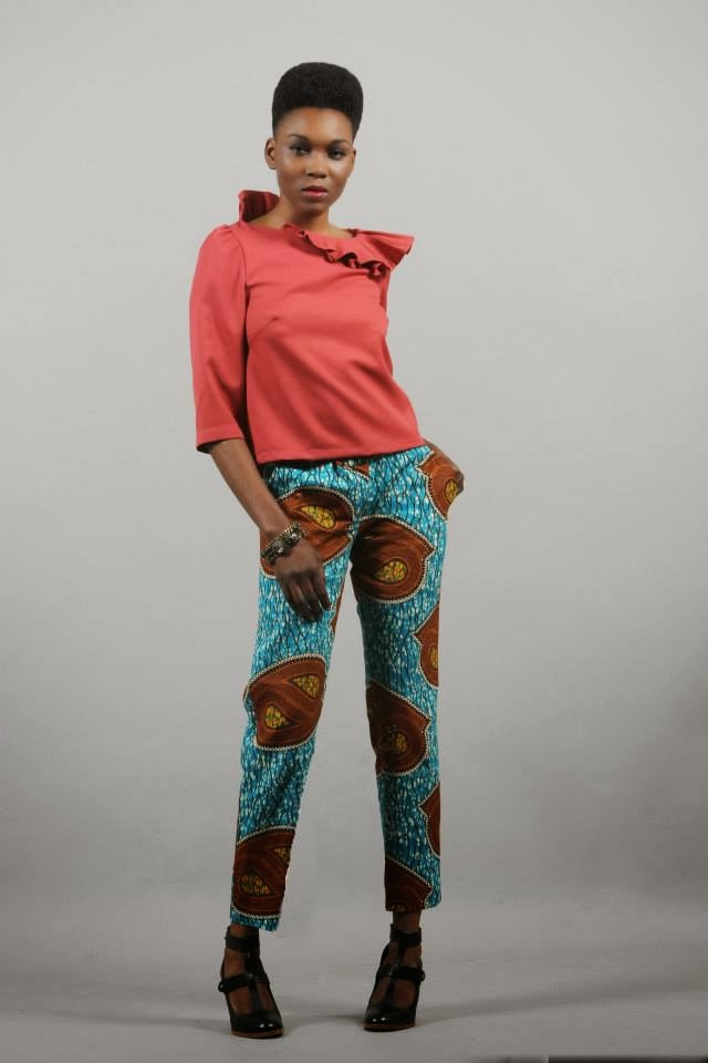"London based African designer Bestow Elan A/W 2013 ""Glamour Dear""Collection #africanprint trousers"