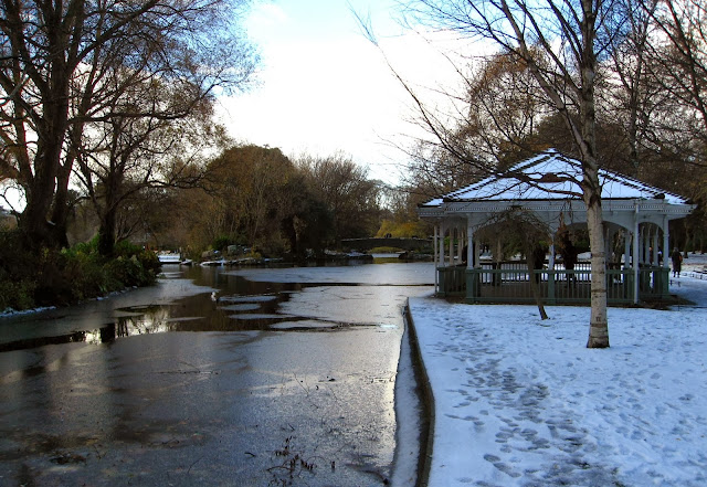 Snowy park, Dublin, Ireland