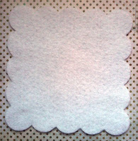 scalloped felt cut out 9 inches