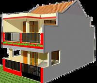 Gambar 3D Redesain Rumah KPR Type 21/72 -02