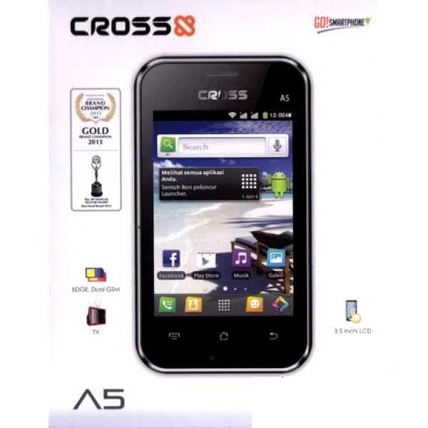 Cross A5,Hp Android 500 ribuan Dual SIM dan TV analog