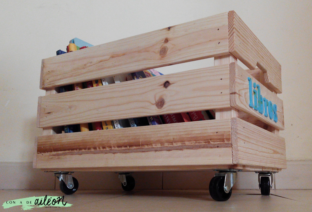 Caj n con ruedas handbox craft lovers comunidad diy for Cajas de madera ikea