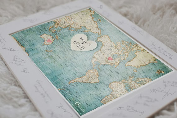 Unxia wedding guest book alternative world map wedding guest book alternative world map gumiabroncs Image collections