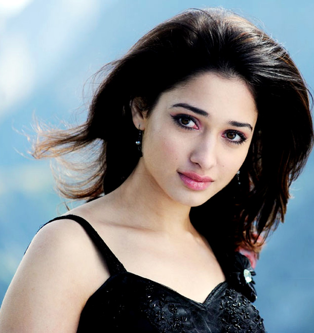 tamanna very in black dress