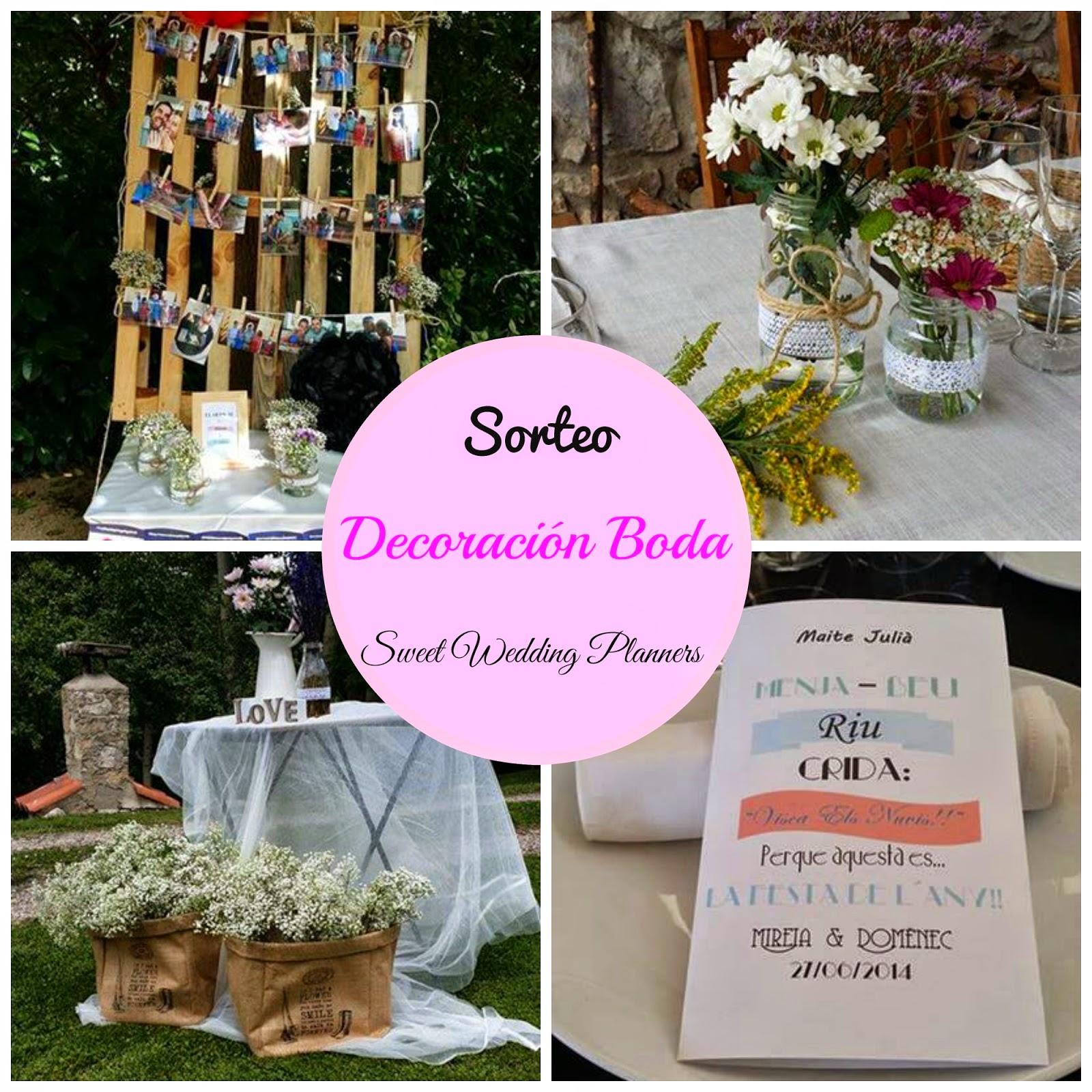 sorteo sweet wedding planners barcelona diseño y montaje decoración boda