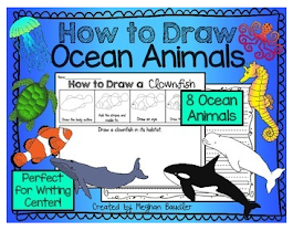 Check Out My How to Draw Ocean Animals Writing Center!