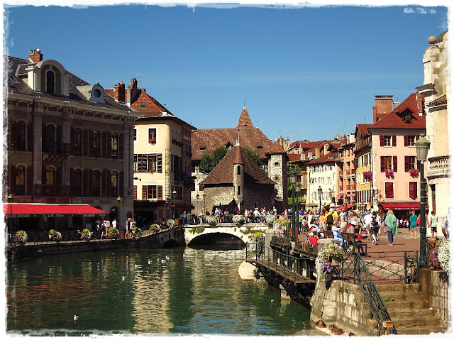 The Palais de l'Isle in Annecy, France.