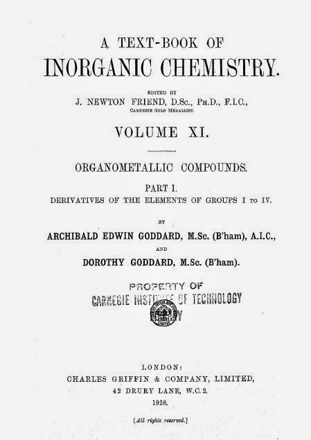 A textbook Of Inorganic Chemistry by K. Newton Friend