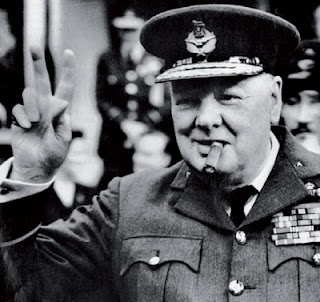 Former British PM Winston Churchill