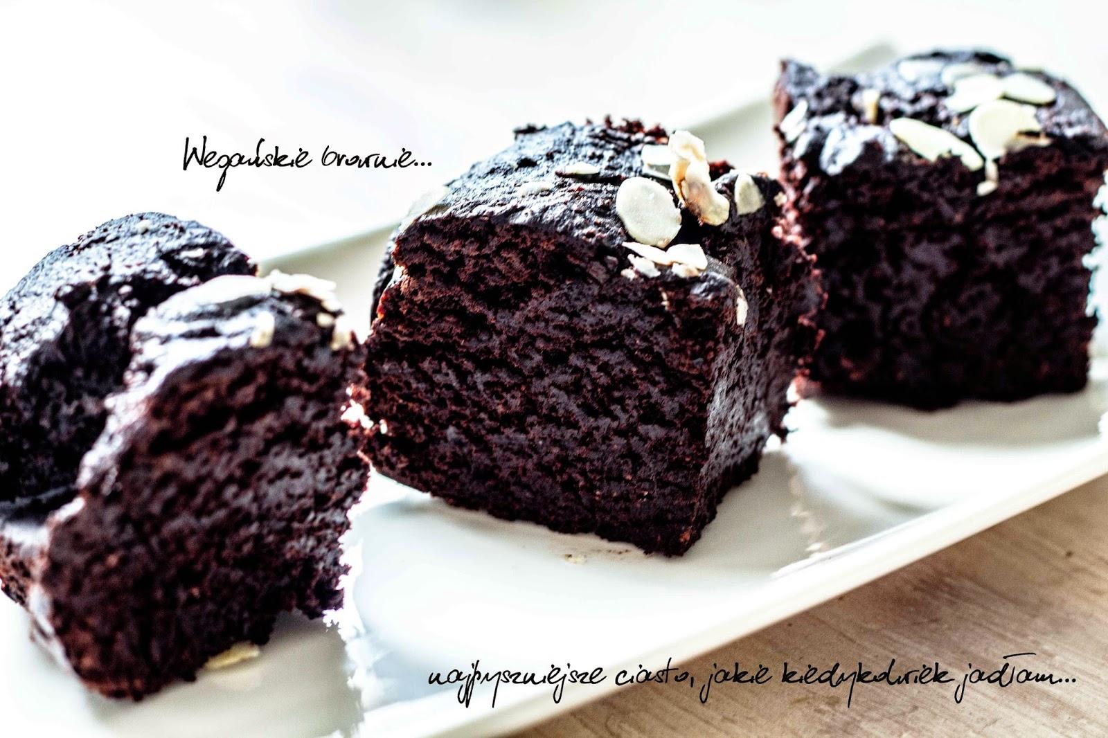 Wegańskie orkiszowo-gryczane brownie bez cukru