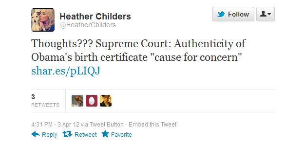 related comments childers support childers contacting fox news httpstwitter comheatherchildersstatus187270421706584064