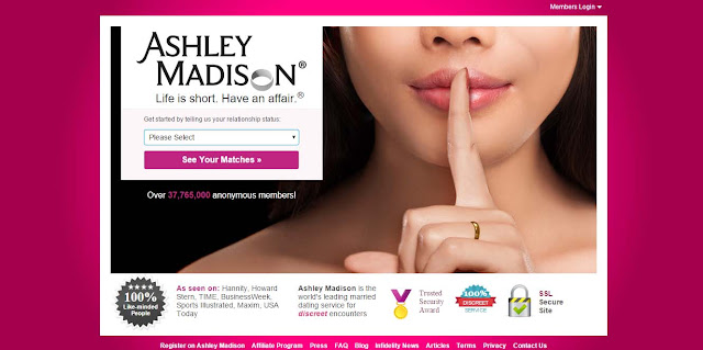 The Married Dating Site Ashley Madison .Com was hacked by The Impact Team