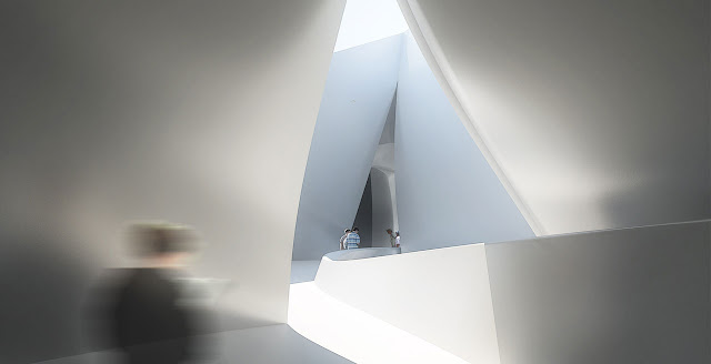 Rendering of hallway inside of new museum