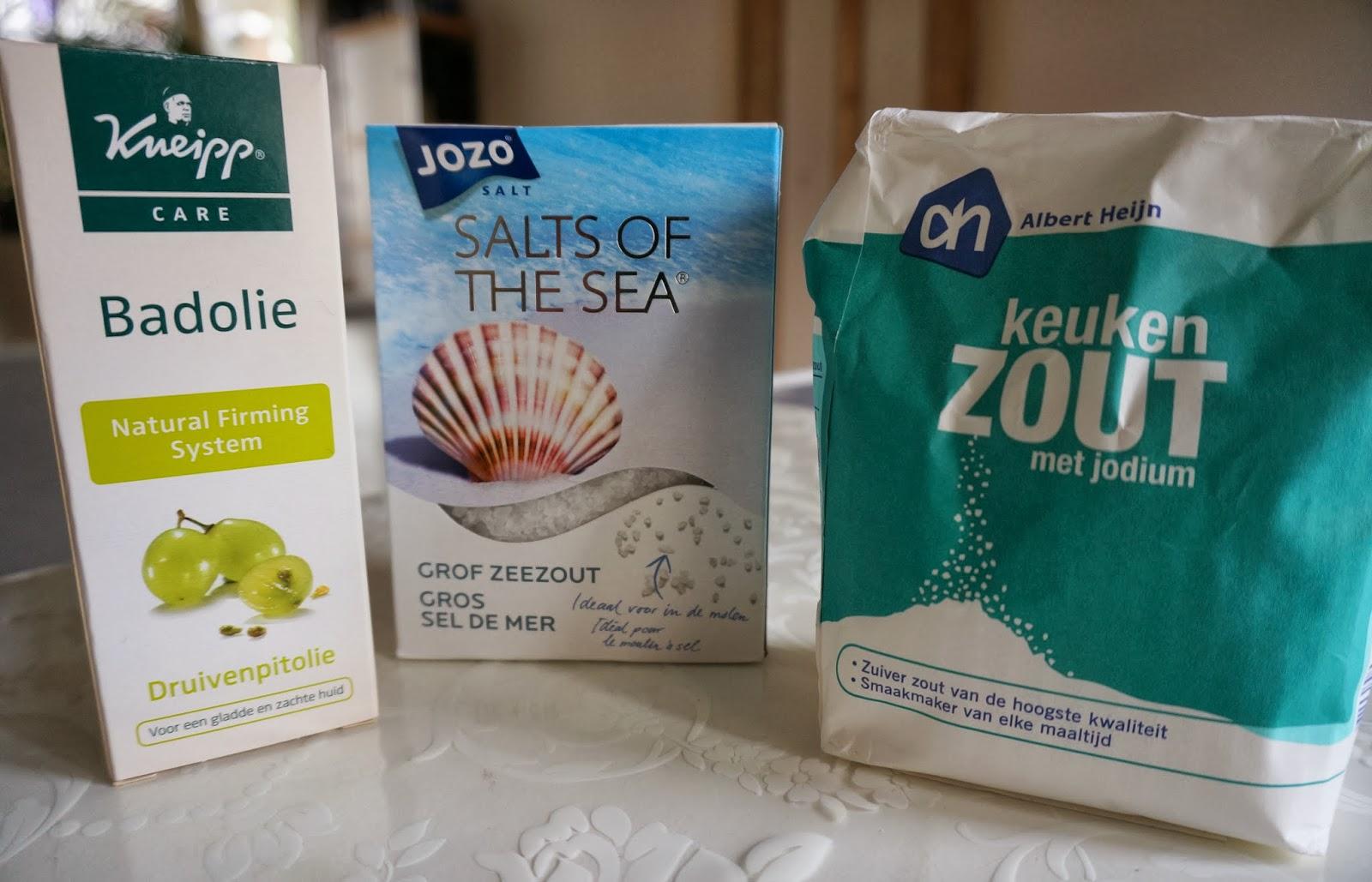scrubben met zout