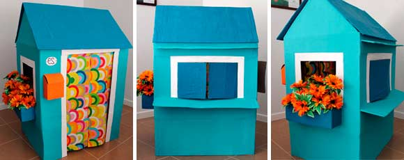 casa de cartón para jugar en 3d
