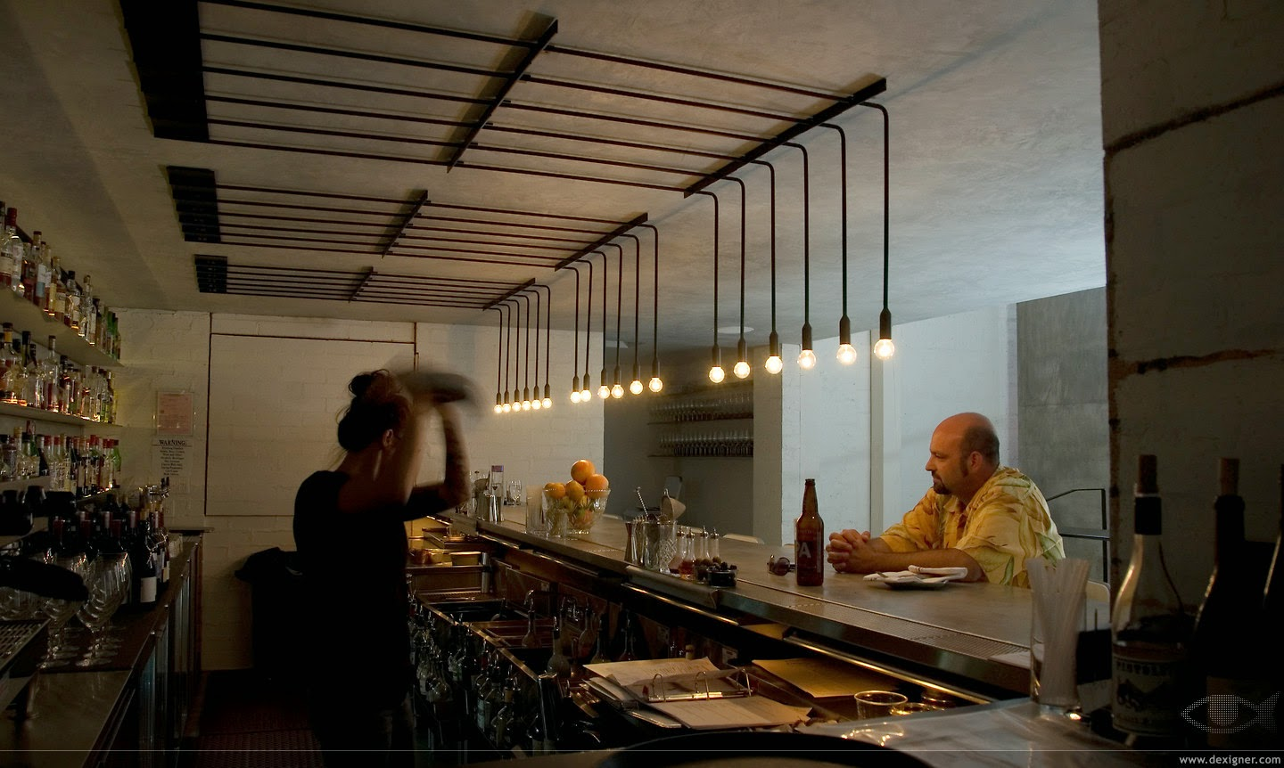 let's stay: industrial design ceiling light : restaurant