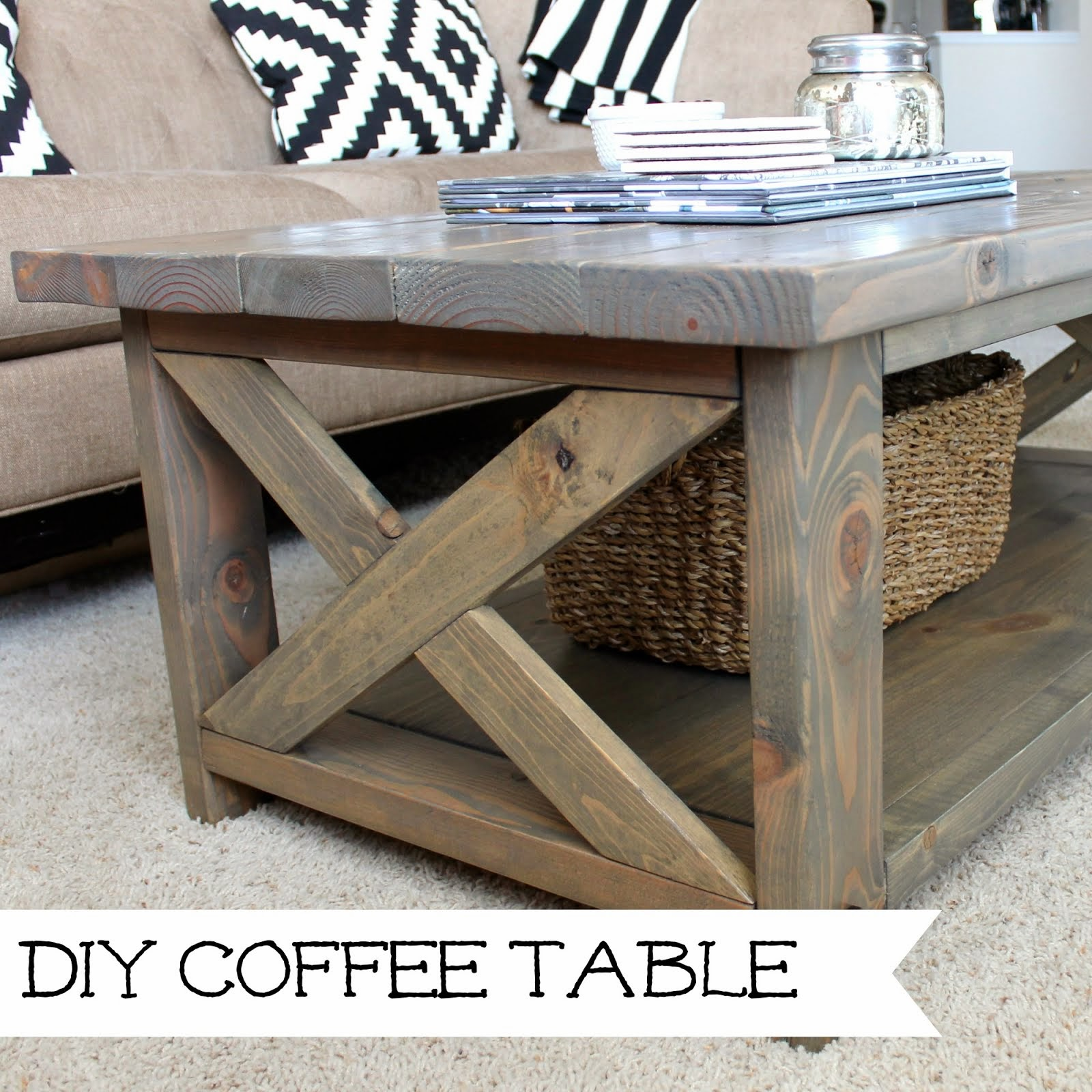 Wonderfully made finished diy coffee table for Table th border none