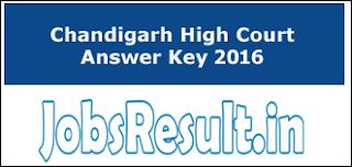 Chandigarh High Court Answer Key 2016