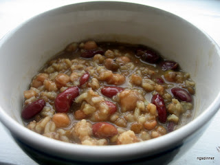 Low Cal, vegan, cold weather bean soup by ng @ What's for Dinner?