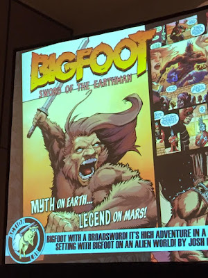 bigfoot sword of the earthman bigfoot comic action lab comics san diego comic con sdcc bigfoot graphic novel barbarian comics