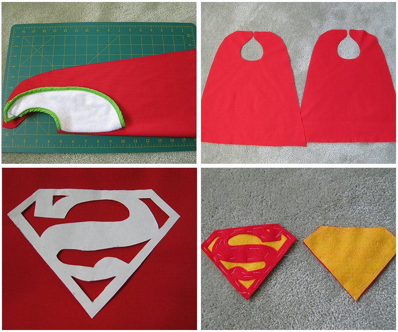 My handmade home tutorial diy superhero capes trim the velcro to fit the cape and sew it on try it on your little one and youre done maxwellsz