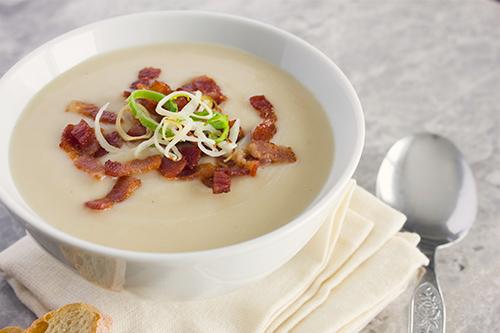 My. Daily. Randomness.: Creamy Potato, Leek and Bacon Soup