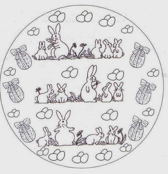 Easter Bunny Xmast Advances Mandala Coloring Pages