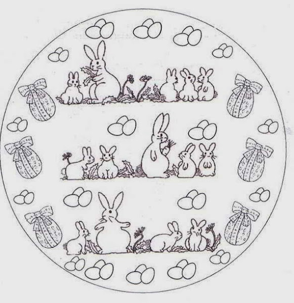 Easter Bunny Coloring Pages Mandala