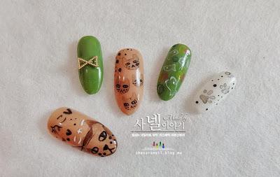 Tarashikomi nail art