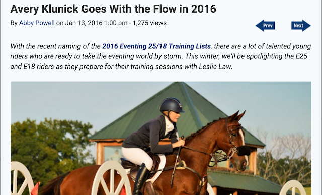 Avery Klunick eventing nation