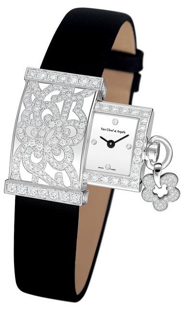 Desejo do dia - Relógio Van Cleef & Arpels diamantes e brilhantes