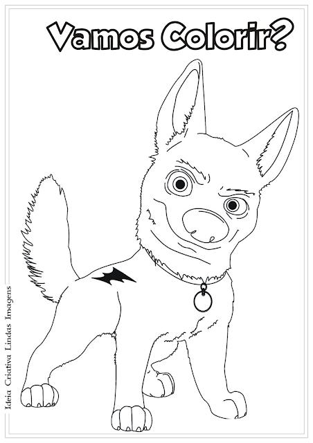 Agente Especial Urso Bolt desenho para colorir