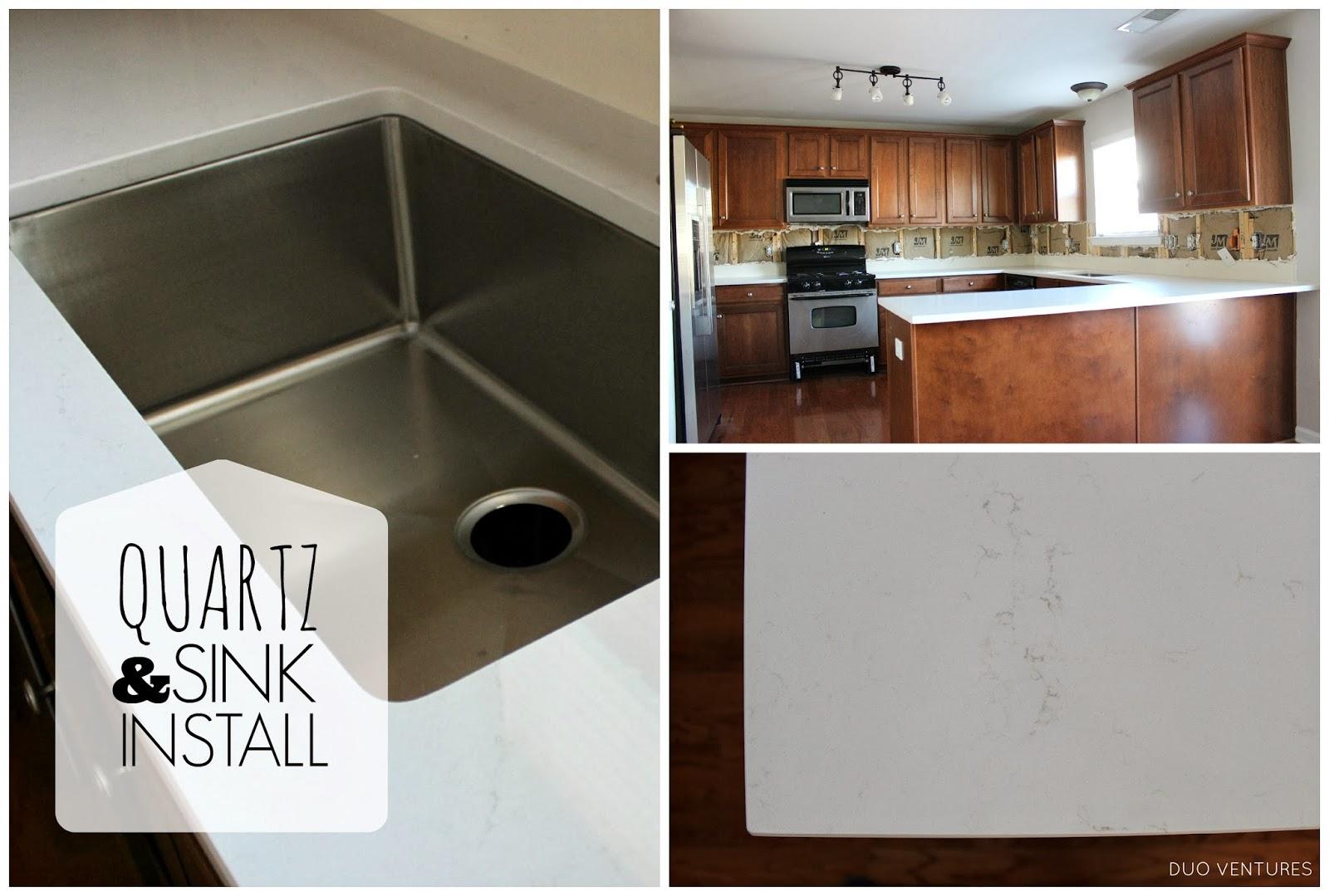 Duo Ventures: Kitchen Makeover: Countertop & Sink Installation