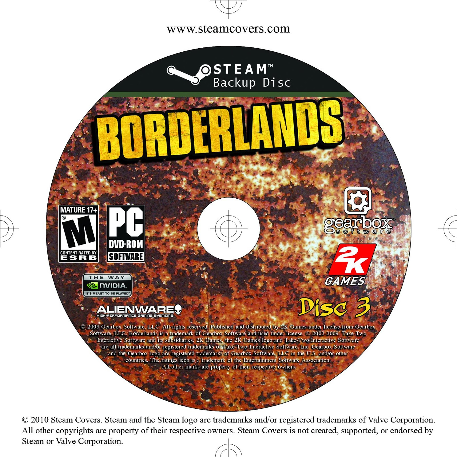 Label Borderlands Disc 3 PC