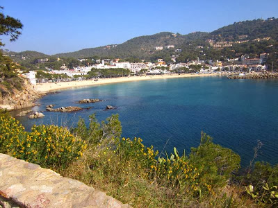 Beach of Llafranc in Costa Brava