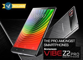Launched @ Flipkart: Lenovo Vibe Z2 Pro Smart Phone with 2.5 GHz Quad Core Processor, 3GB RAM & 32 GB ROM for Rs.32999 Only
