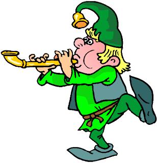 Dwarf Blowing Flute Free Clipart