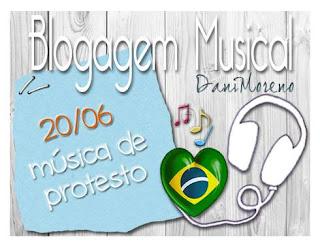 Imagem do banner de Música de Protesto da BC Musical promovida pelo blog Moça de Família da Dani Moreno