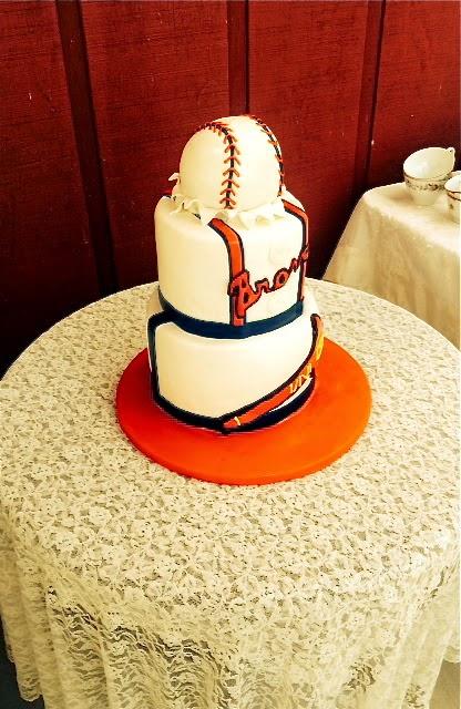 Atlanta Braves Baseball Grooms Cake