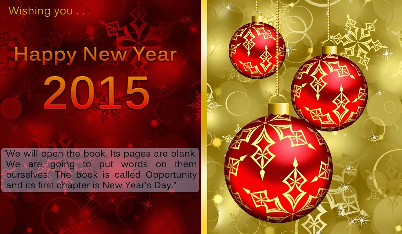Happy New Year Best Wishes Photo Holiday Cards 2015