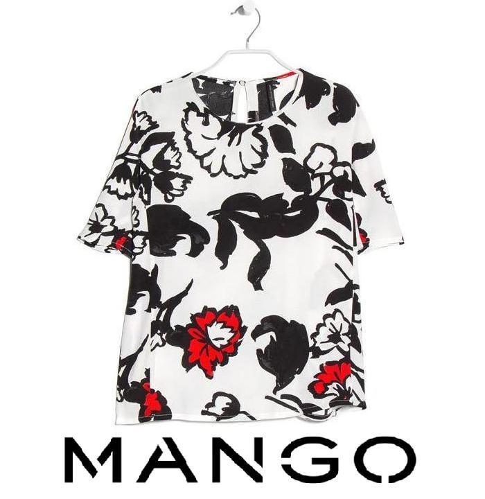 Queen Letizia - MANGO Floral Print Blouse