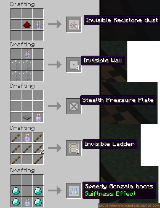 Como crear bloques invisibles con el Mod Stealth Blocks Minecraft 1.7.10