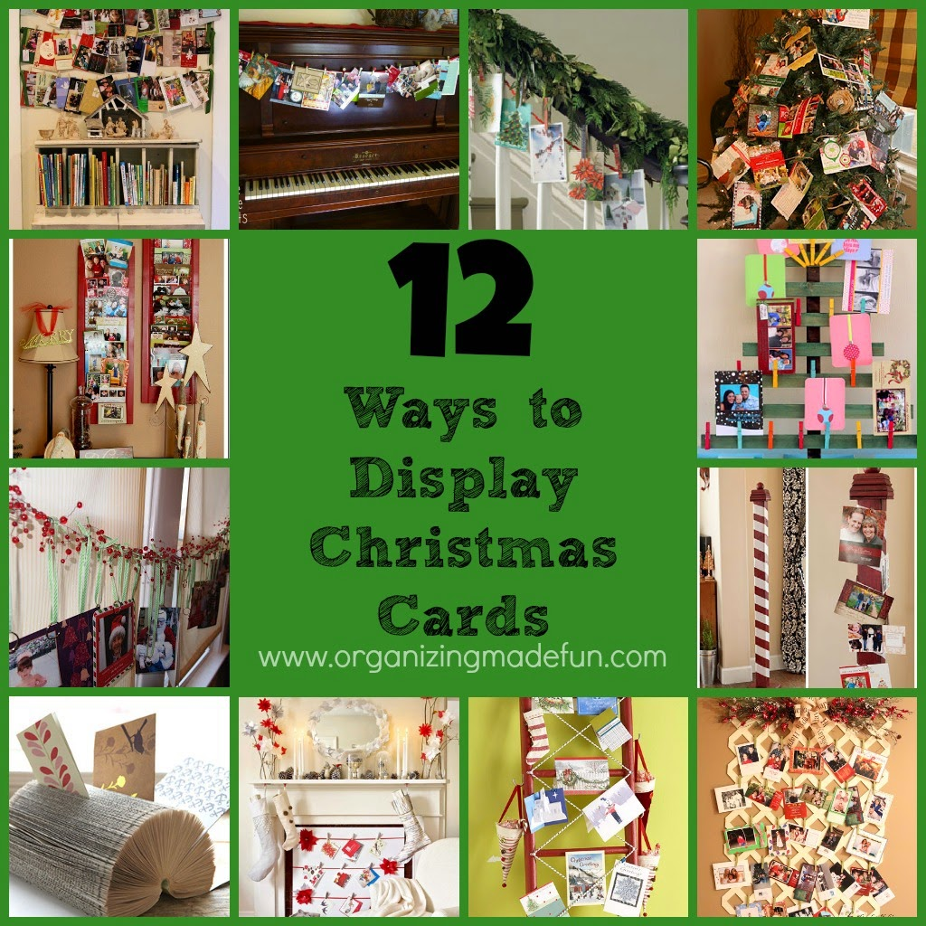 12 Ways to Display and Organize Christmas Cards :: OrganizingMadeFun.com