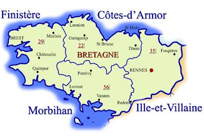 Mapa de Bretagne