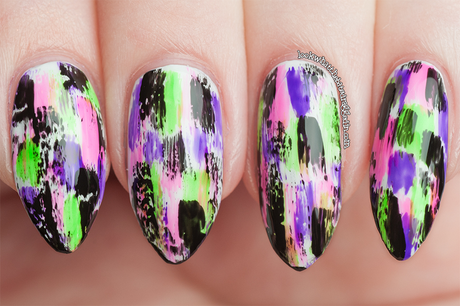 Ulta3 Illamasqua nail art manicure inspired by Chalkboard Nails