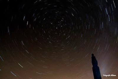 Fotografía Alitana. Movimiento de las estrellas en el Pico de San Lorenzo.