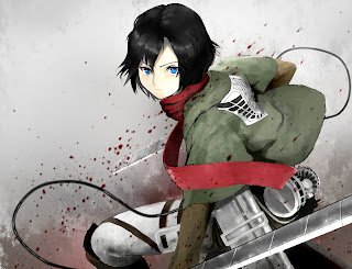Attack on Titan Shingeki no Kyojin Mikasa Ackerman Anime Girl Sword Blade HD Wallpaper Desktop Background