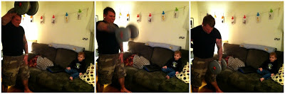 weightlifting at home, weightlifting when you have kids, kids and weights, strong dads, how to weightlift at home