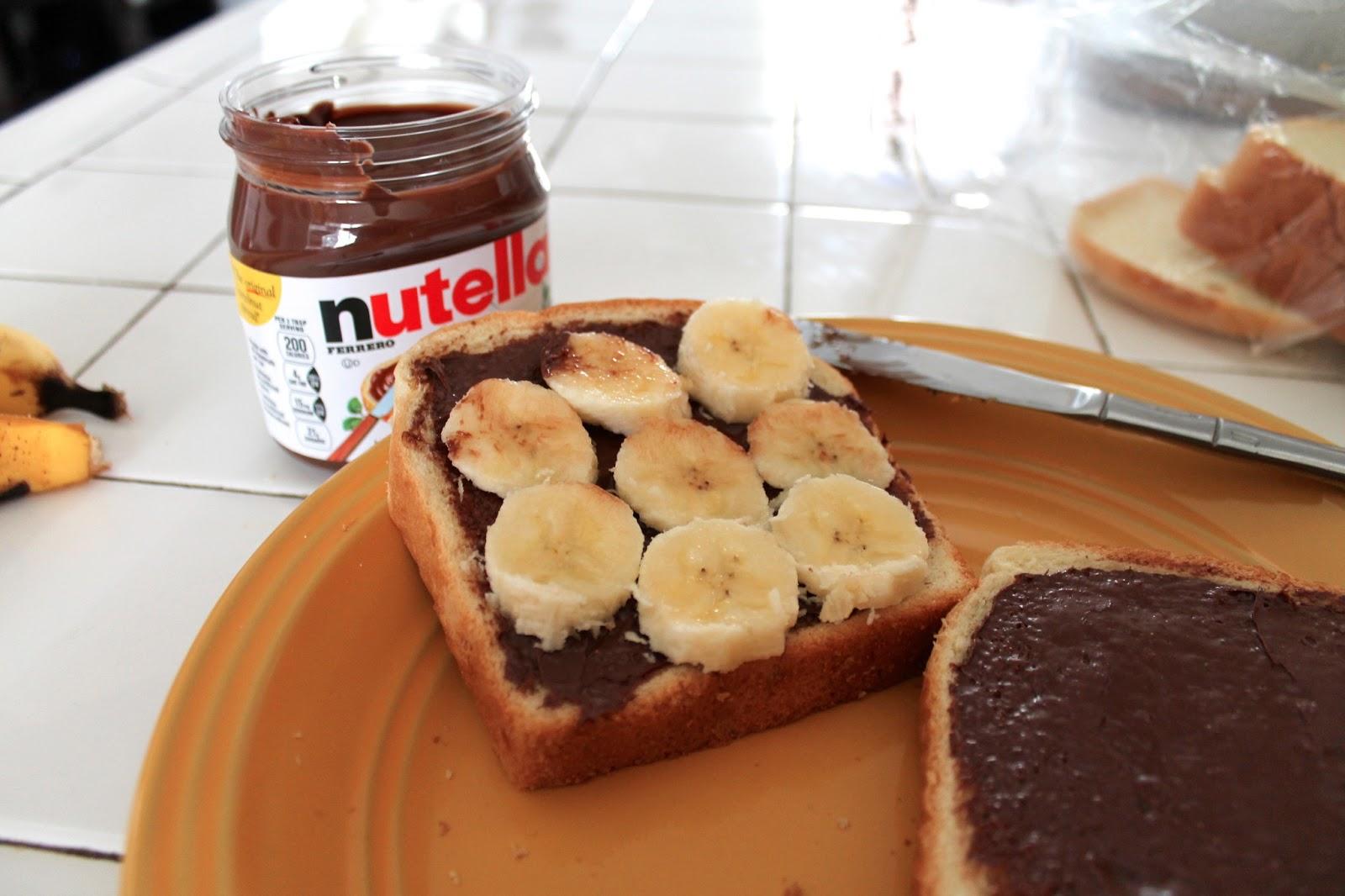 Banana French Toast Nutella Toast—nutella And Banana